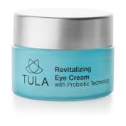 TULA Revitalising Eye Cream with Probiotic Technology, 15ml - Minimises Fine Lines, Dark Circles & Puffiness