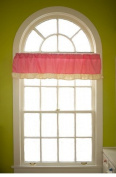 Go Mama Go Go Mama Go Designs Wildthing Window Valance, Pink/tan