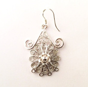 Imagine If... Sterling Silver Spiral Drop Shaped Bali Chandelier Earrings