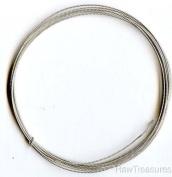 18 Gauge .925 Sterling Silver Twist Dead Soft Round Wire - 1.2m