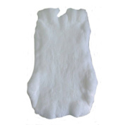Jumbo White Top Grade Real Rabbit Fur Pelt Skin Taxidermy ~~46cm by 43cm