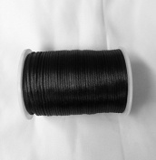 Satin Rat tail cord 2.5mm for macrame, jewellery, decorations selling per Roll/110 yard in Black, Available in 21 Colours