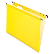 Pendaflex 615215YEL Poly Laminate Hanging Folders, Yellow - Letter Size