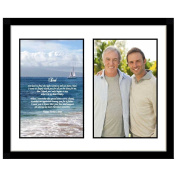 Father's Day Gift for Dad in Frame with Poem Photo Mat - Add Photo