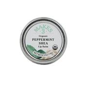 Makes 3 Organic Lip Balm, Peppermint Shea, 15ml