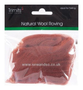 Trimits FW10.310 | Sienna Natural Wool Roving | 10g Bag