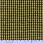 Marcus Fabric Christmas Primo Primo Cotton Flannel Plaid Hunter Tan Cheque