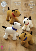 King Cole Amigurumi Crochet Double Knitting Merino DK Pattern for Dogs & Puppies