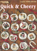 QUICK & CHEERY COUNTED CROSS STITCH LEAFLET FROM LEISURE ARTS