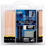 Pro-Art-18-Piece-Sketch-Draw-Pencil-Set-New.