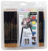 Sargent Art 22-7281 19 Piece watercolour Pencil Drawing Set