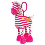 Manhattan Toy Brights Baby Activity Toy with Discovery Mirror, Pink Giraffe