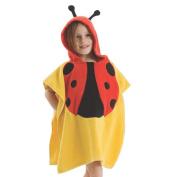 JISEN® Baby Shower Cloth Baby Towel Blaket with Hood Yellow Ladybug Style Baby Coat Baby Blanket