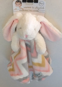 Blankets & Beyond Striped Bunny Security Blanket