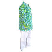 Flawnt Floral Printed Green Cotton Kurta and Payjama Set for Baby boys
