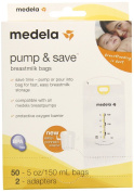 Medela Pump and Save Breast Milk Bags 50 Count 87234,NEW-Free Ship