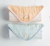 Organic Cotton Pebble Stripe Travel Changing Pad - Warm Pink