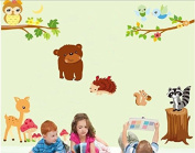 Cartoon Zoo wall stickers animal decals children's room nursery bedroom decoration kids room bedroom decal