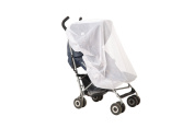 Strollers Net For Indoor & Outdoor Use, Insect Safety Netting, Mosquito, Bee, Bug Net, Fits Most Strollers and Bassinets, Breathable and Comfortable for baby, Elastic For Secure Fit, Colour White