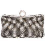 Digabi Sparkling clear crystals Crystal ring on the handle Rectangle Shape women Crystal Evening Clutch Bags