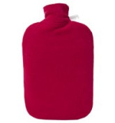 Warm Tradition Fleece Covered Eco Comfort Classic Hot Water Bottle - Made in Germany