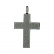 Stainless Steel Cross Charm Pendant with Engrave
