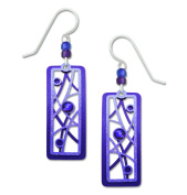 Adajio by Sienna Sky Blue Violet Twigs and Bubbles Earrings 7676