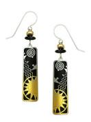 Adajio by Sienna Sky Black Column Sunrise Filigree Earrings 7590