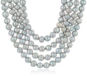 Bella Pearl Grey Endless Pearl Strand Necklace, 200cm