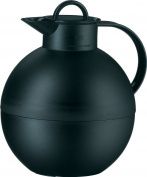 Alfi Kugel 0.94 L Glass Vacuum Frosted Plastic Thermal Dispenser Carafe, Black