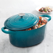 Crock Pot Artisan 6.6l Oval Dutch Oven, Teal
