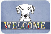 "Caroline's Treasures BB1396CMT Dalmatian Welcome Kitchen or Bath Mat, 20 by 30"", Multicolor"