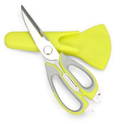 SSGSSK® Multi-purpose Kitchen Shears with Magnetic Holder Multifunction Kitchen Scissors Suitable for Kitchen, Culinary, Herbs, Nut Cracker, Bottle Opener, Shears