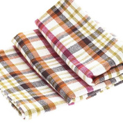 Factory Direct Craft® Trio of Durable Cheery Madras Plaid Cloth Dish Towels for Displaying, Everyday and Gifting
