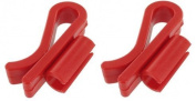 Thorium Racking Cane Auto Syphon Tube Clip Clamp Holder | 1cm size | Two Pack