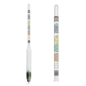 Hydrometer Triple Scale - Specific Gravity - Deluxe Set for Homebrew Beer and Wine