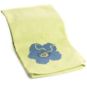 Factory Direct Craft® Trio of Durable Lime Green Cloth Kitchen Towels With Embroidered Blue Flower for Displaying, Everyday and Gifting