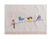 Maison d' Hermine Birdies On Wire 100% Cotton Set of 2 Placemats, 33cm x 48cm .