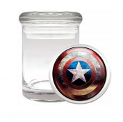 Captain Shield Battle-Damaged Super Hero Avenger Medical Odourless Glass Jar