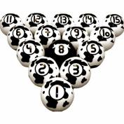 Vigma Pool Ball Set Cowpoke Pool Balls Cow pattern Billiard Set