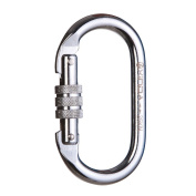 Camping Hiking Master Lock Carabiner Buckle For Mountaineering Rock Climbing Alloy Steel O-Shaped