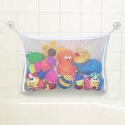 Kid Baby White Bath Tub Toy Hanging Mesh Storage Bag Organiser Suction Bathroom