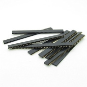 10 x 2.54mm Pitch 40 Pin 40p Female Single Row Straight Header Strip for DIY