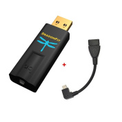 Android Bundle AudioQuest DragonFly Black v1.5 USB Digital-to-Analogue Converter and Micro OTG USB 2.0, 13cm