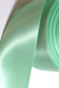3.8cm Double Face Satin Ribbon MINT GREEN 100% Polyester 3.8cm x 10 yards