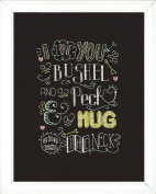 Design Works Crafts Hug Chalkboard Counted Cross Stitch Kit, 20cm by 25cm