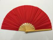 Plain Red Bamboo Kung Fu Tai Chi Training Fan USA Seller