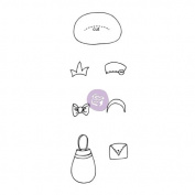 Prima Marketing Mixed Media Doll Cling Rubber Stamps, Boutique Accessories