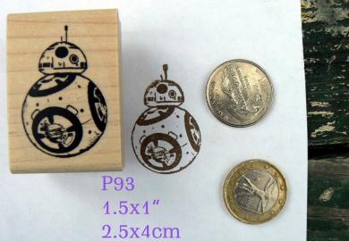P93 BB8 robot rubber stamp
