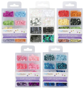 CraftMedley - Cup Sequins 7mm - Princess, Baby, Citrus, B & W Classic and Rhythm 'n Blues - 5 kits